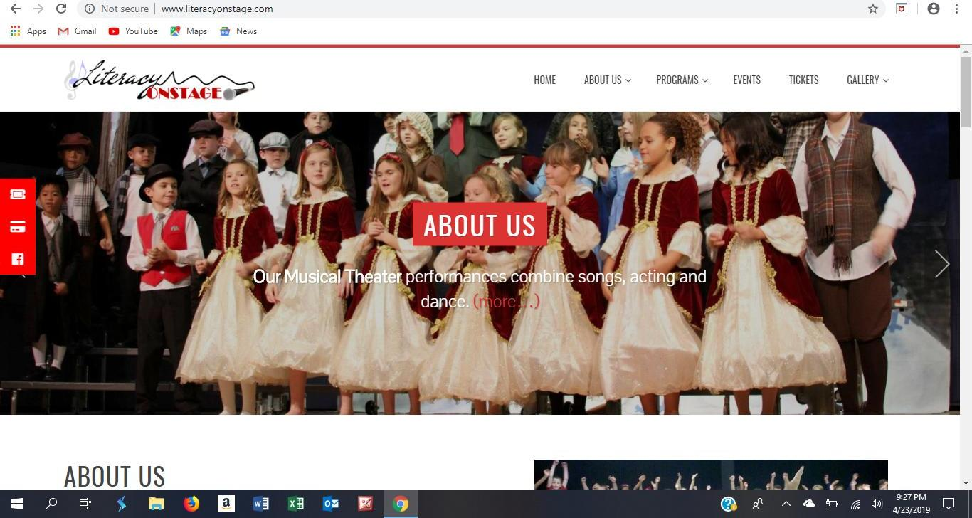 literacyonstage website