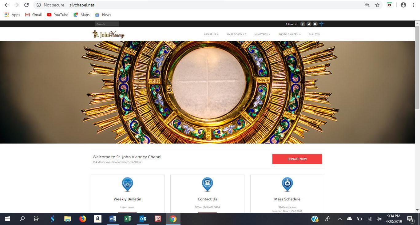 st john vianney website 1