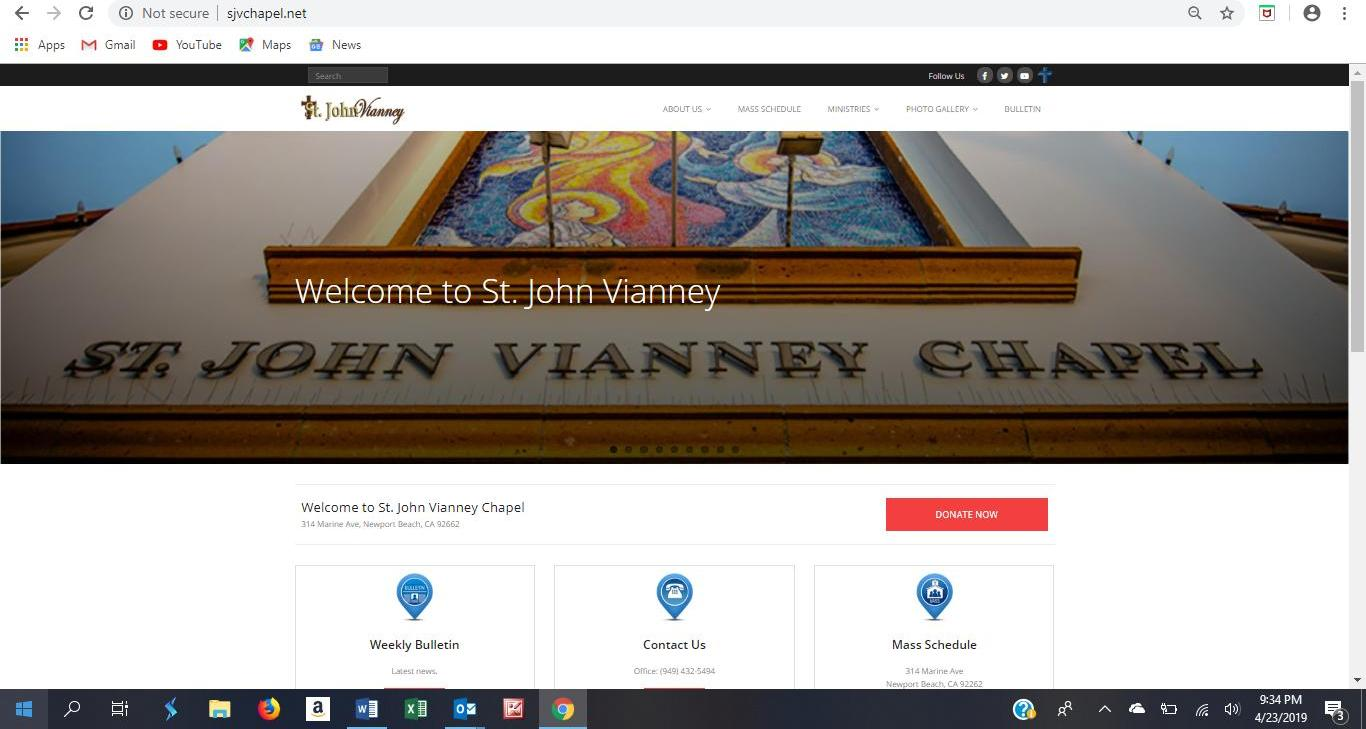 st john vianney website 2
