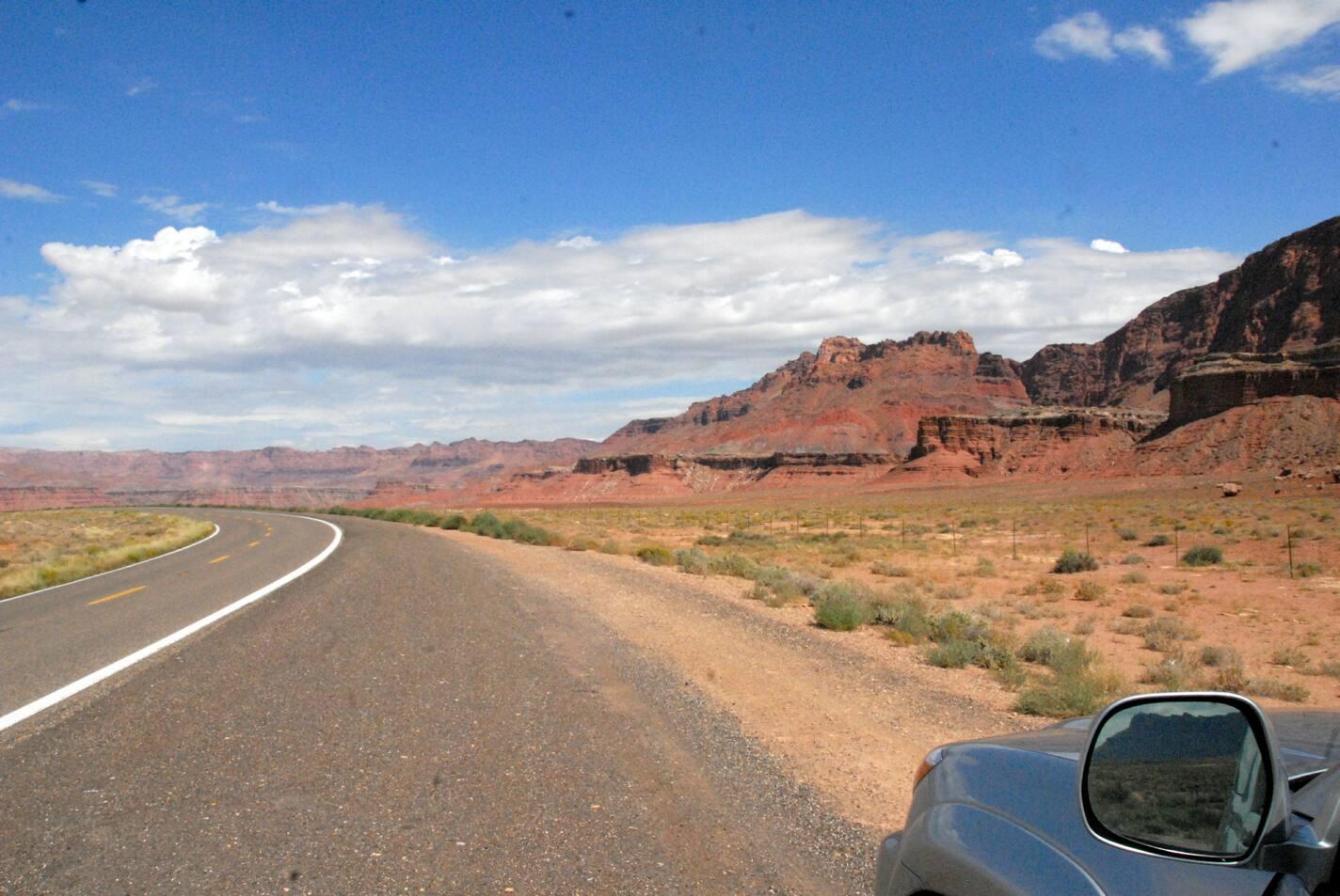 On the way to Vermillion Cliffs