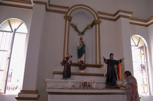 A statute of the Lebanese Maronite monk Saint Charbel Makhlouf
