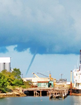 a water spout off Cape Charles Yacht Center, photographed on 8/25 by Rob Maguire, the Harbor Master