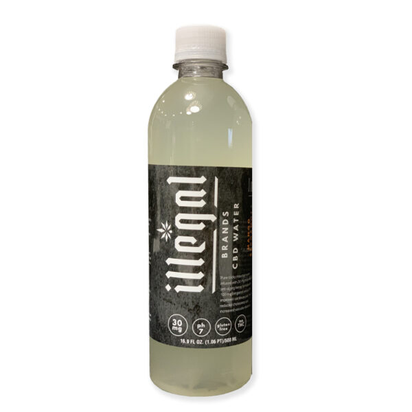 Illegal Brands 30mg CBD Infused Water - Mango Bergamot
