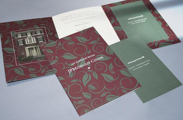 JPMorgan Chase Invite - Integrated Printing & Graphics
