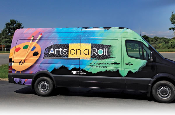 Arts On a Roll Van Wrap