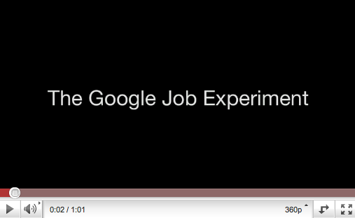 The Google Job Experiment: Genius Use of Pay Per Click Advertising