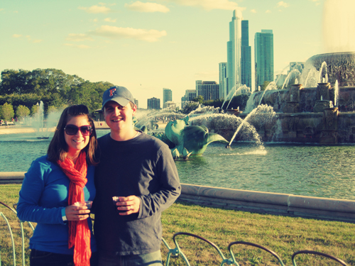 Celebrating our 1st Wedding Anniversary in Chicago
