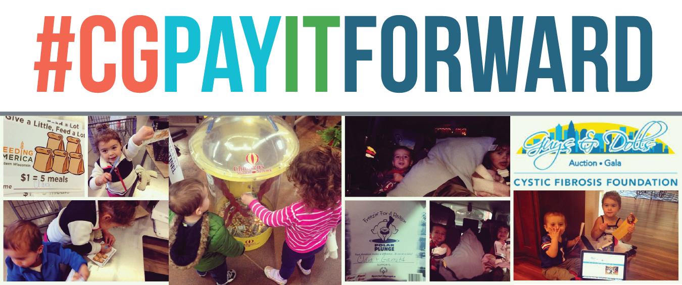 #CGPayItForward and Give Thanks