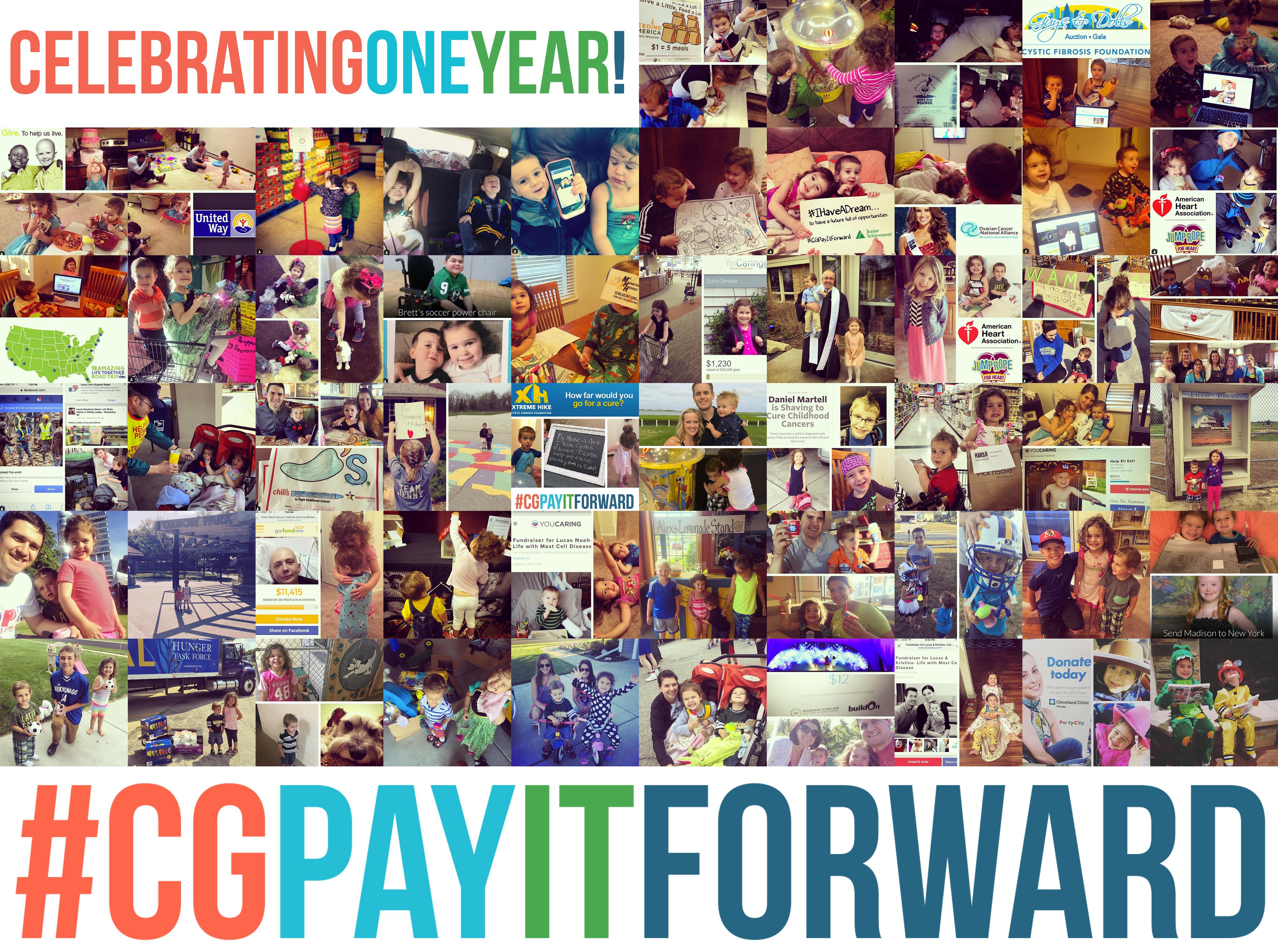 Celebrating ONE YEAR of #CGPayItForward!