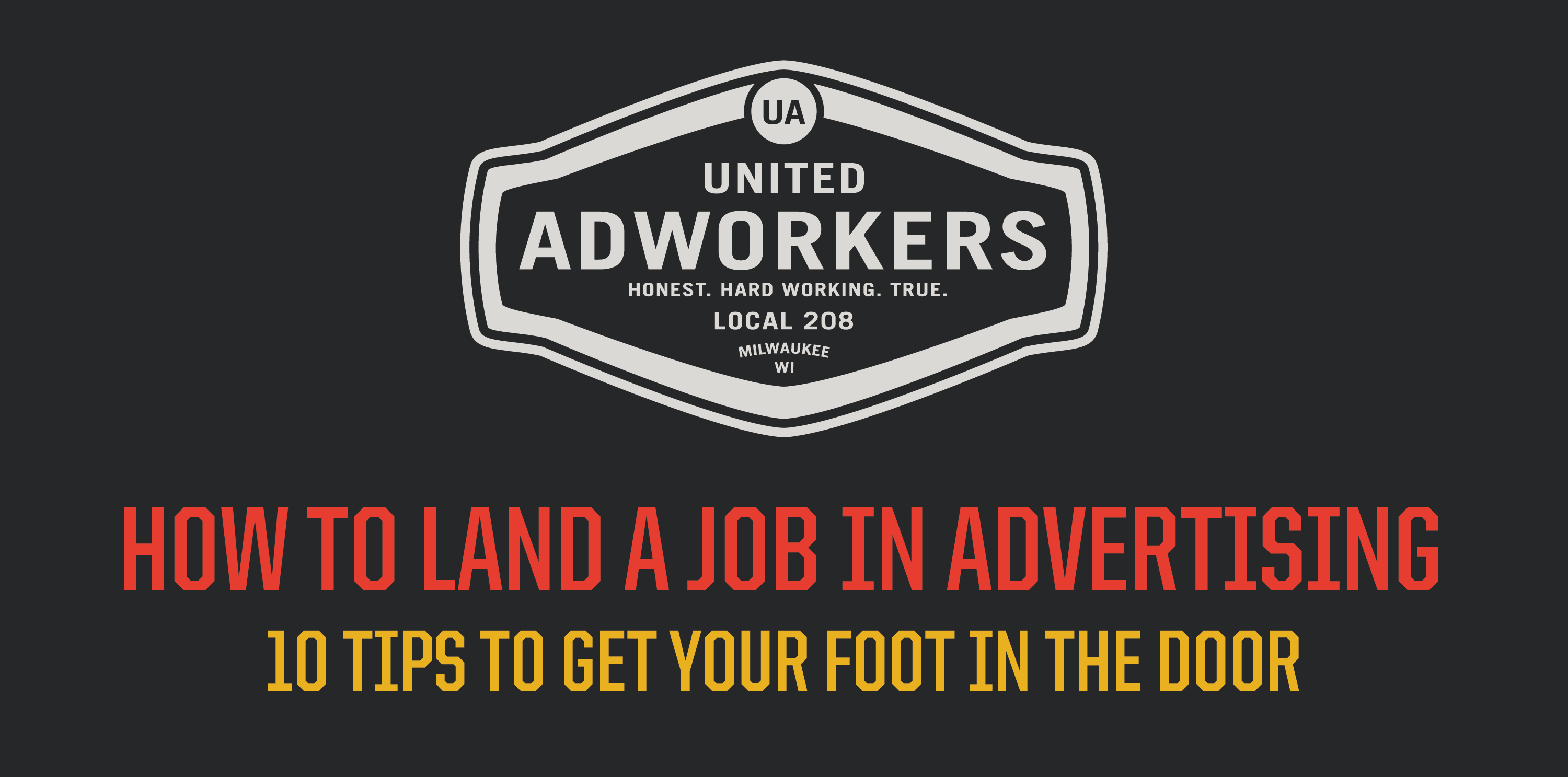 How to Land a Job in Advertising
