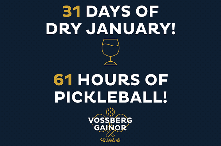 31 Days of Dry January, 61 Hours of Pickleball Playing