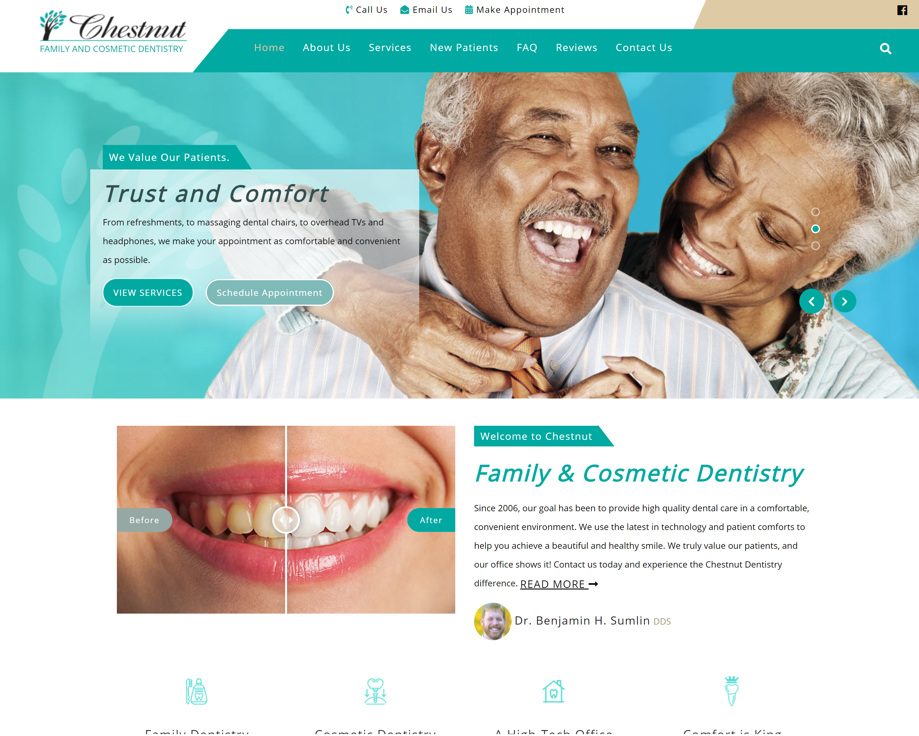 Chestnut Dentistry Website
