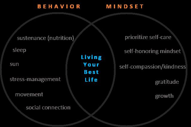 Living Your Best Life Venn Diagram