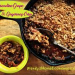 muscadine grape and gingersnap crisp