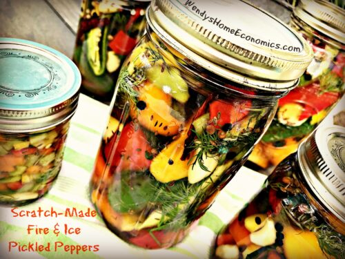 Scratch-Made Fire & Ice Pickled Peppers