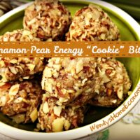Cinnamon Pear Cookie Bites