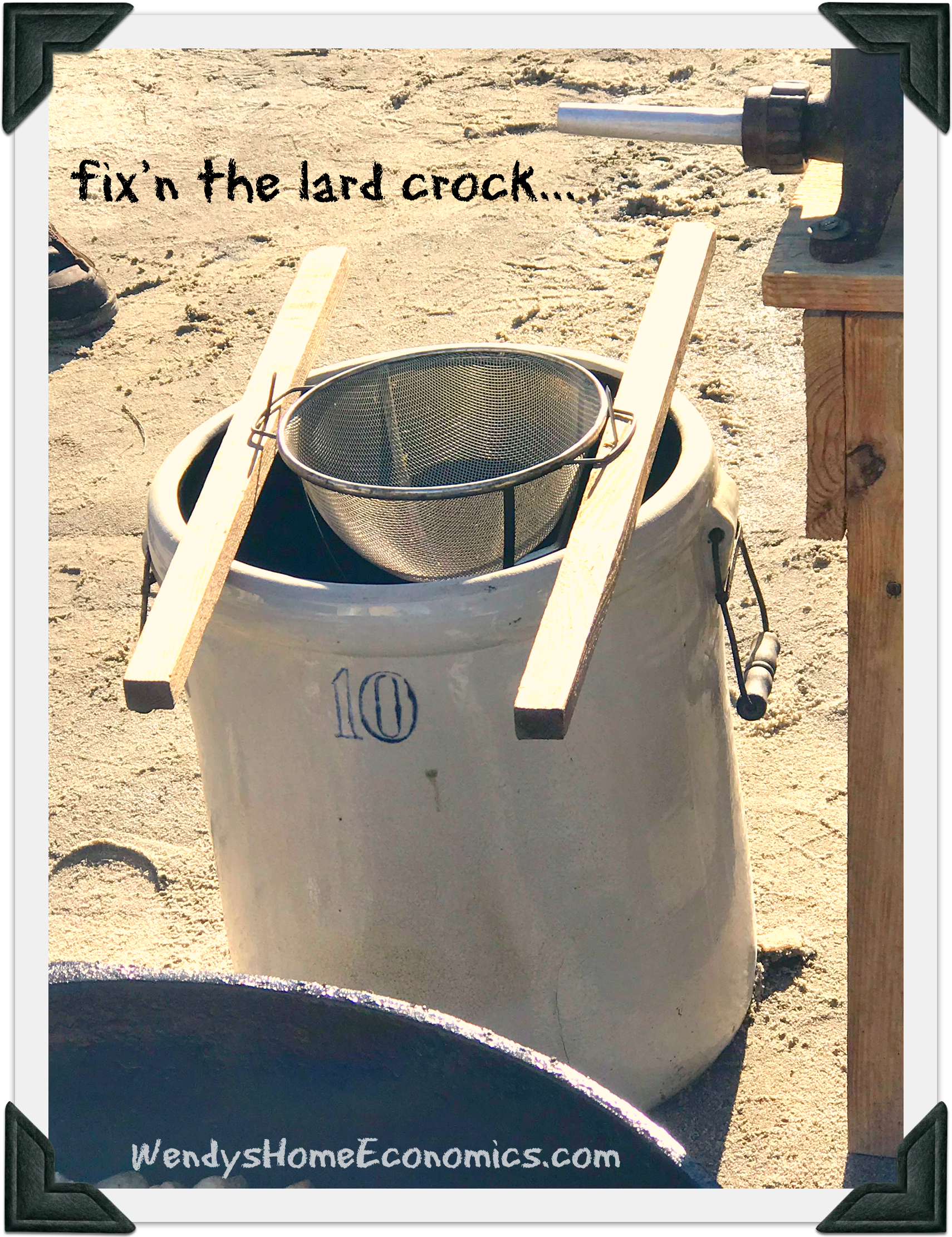fix'n the lard crock