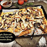 Apple, Onions & Rosemary Tart