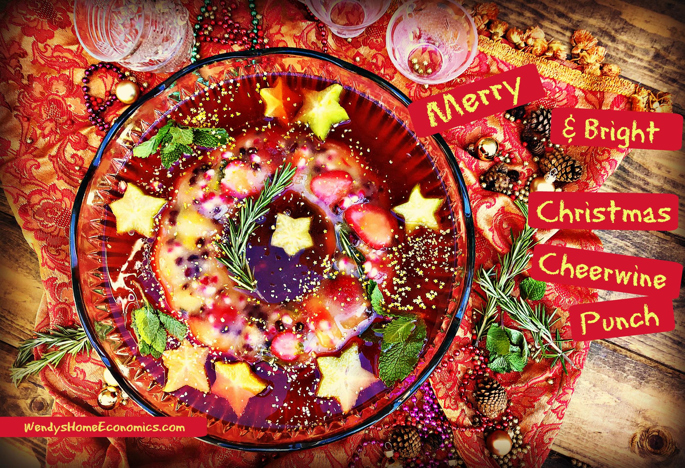 Merry & Bright Christmas Cheerwine Punch