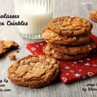 Molasses Ginger Crinkle Cookies