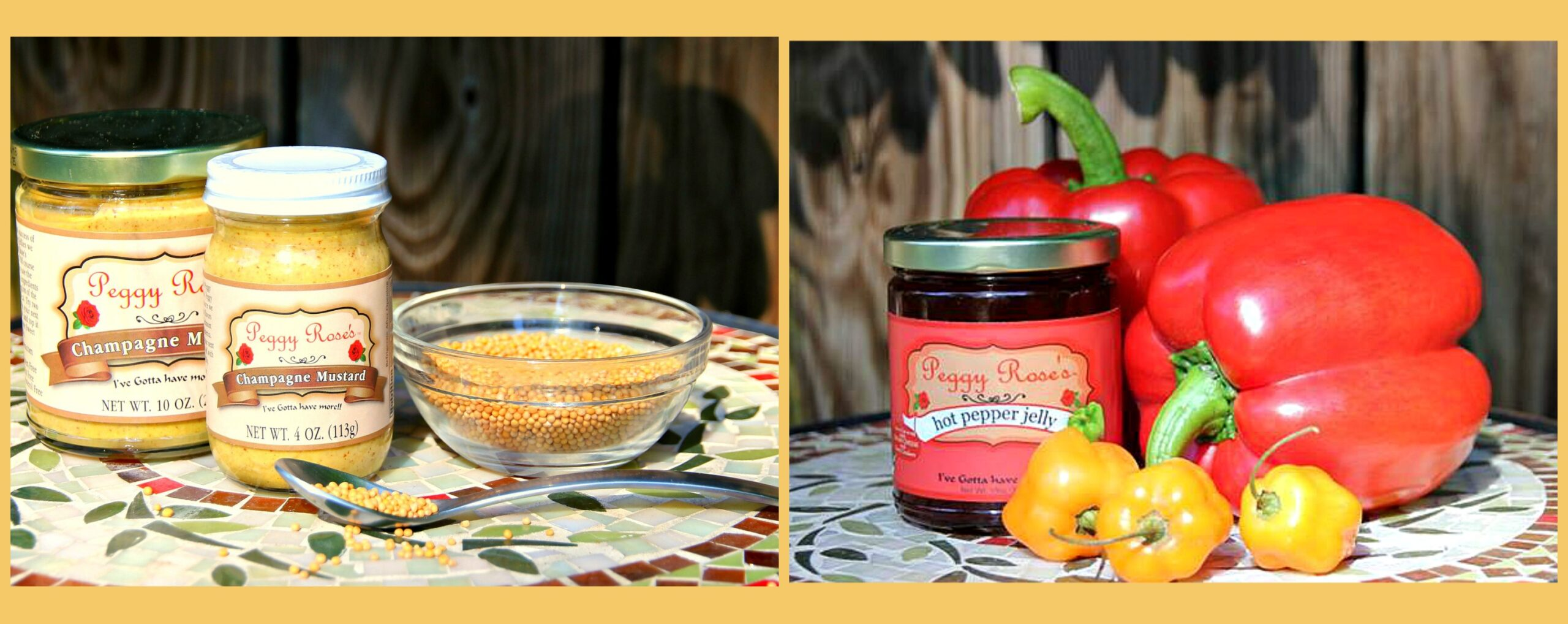 Peggy Rose's Pepper Jelly & Champagne Mustard