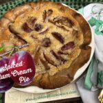 Spiced Plum Cream Pie