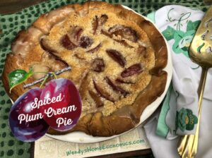 Spiced Plum Cream Pie
