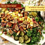 Honey Baked Ham Salad With wilted caraway slaw and rye croutons