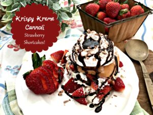 Krispy Kreme Cannoli Strawberry Shortcakes