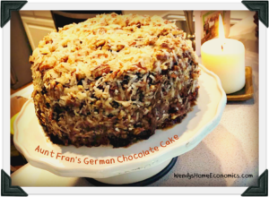 Aunt Fran's German Chocolate Cake