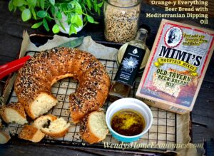 Orange-y Everything Beer Bread with Mediterranean Dipping Oil