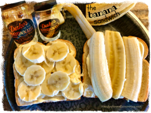 Banana Sandwich with Duke's Mayonnaise