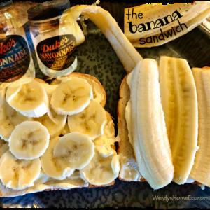 Banana Sandwich with Duke's Mayonnaise