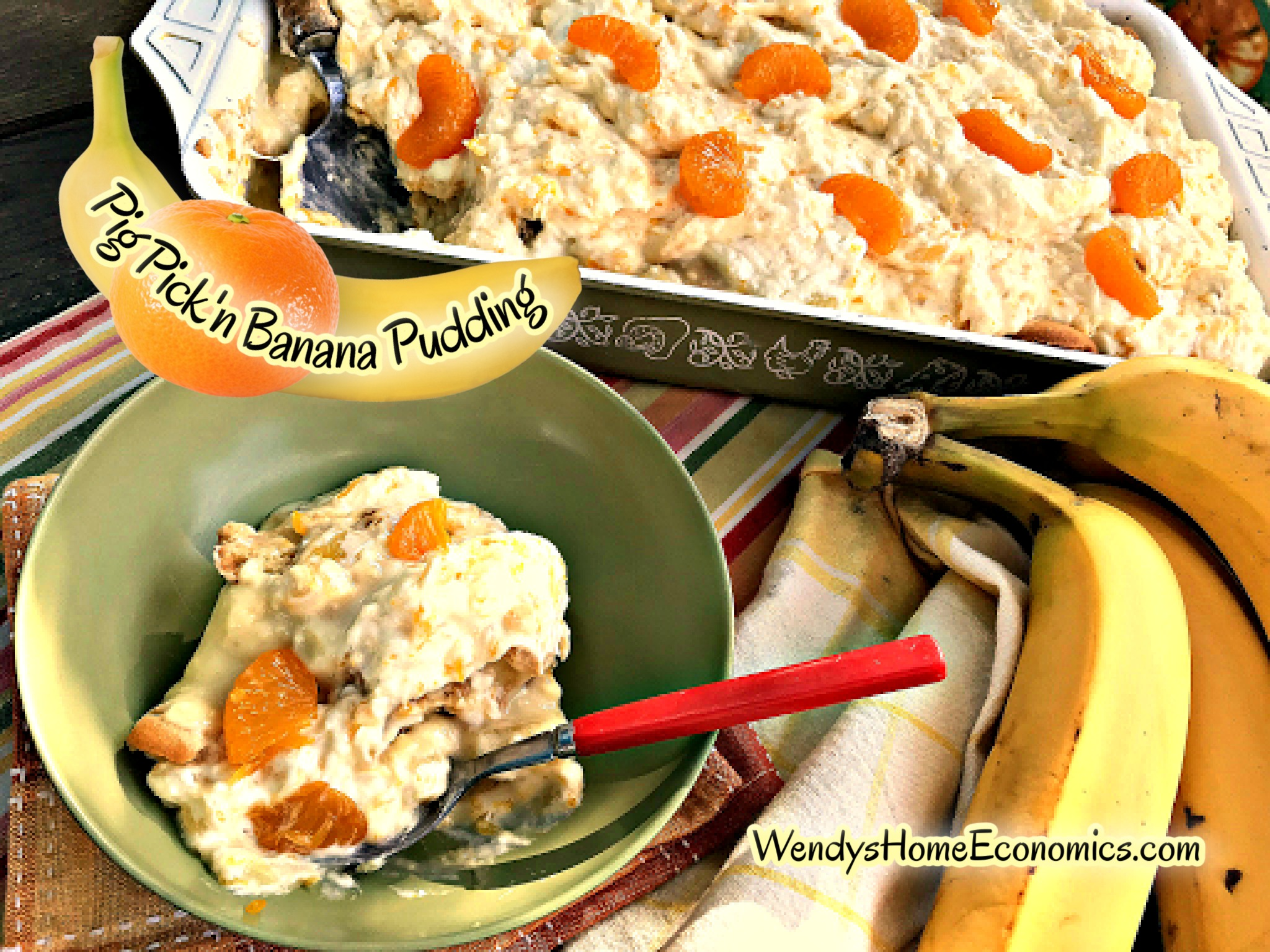 Pig Pick'n Banana Pudding