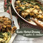 Rustic Herbed Dressing with apples and cheddar