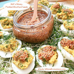 Hot n'Honey Pickled Mustard Seeds