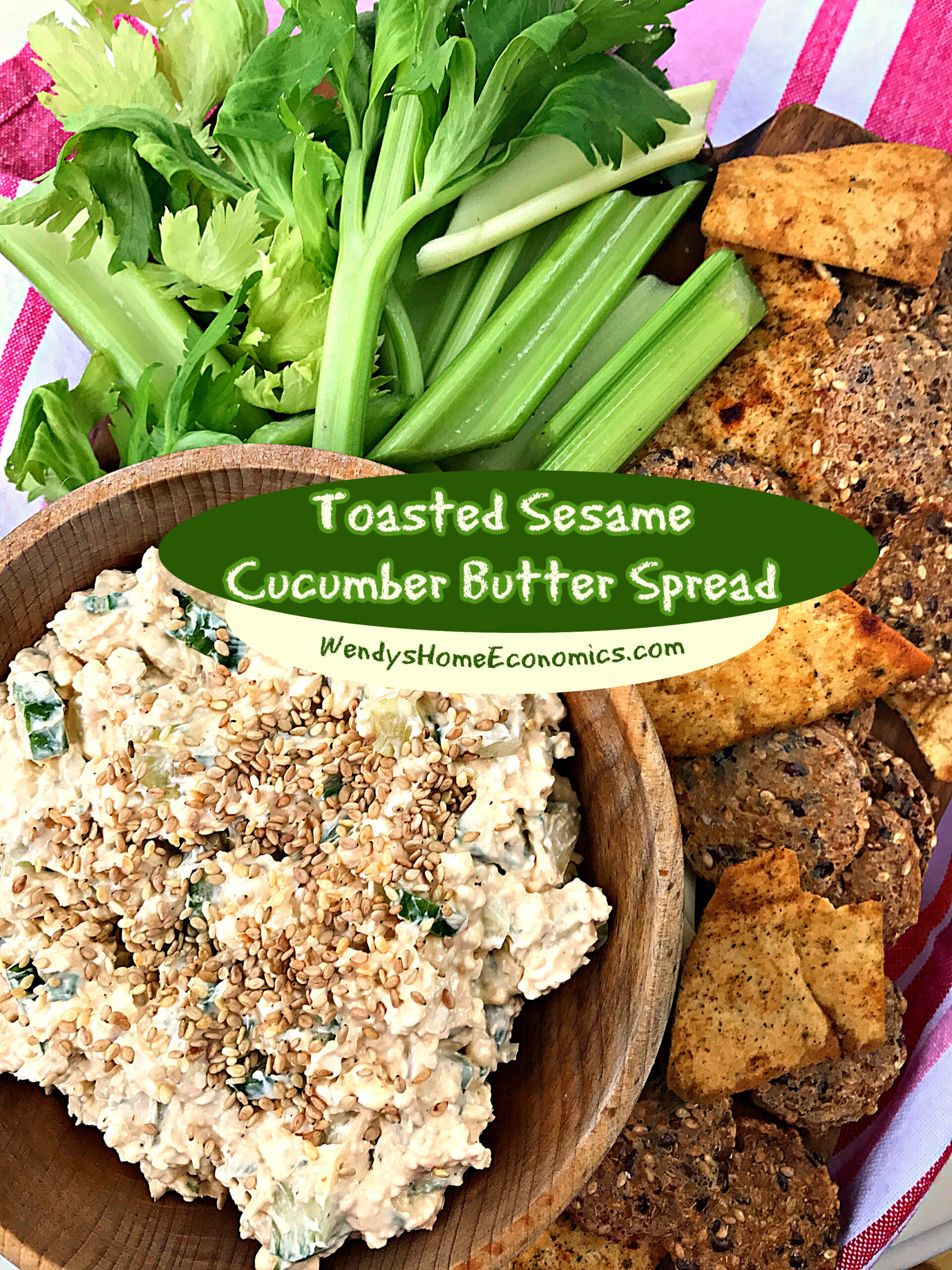 Toasted Sesame Cucumber Butter Spread