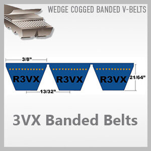 3VX Banded Belts