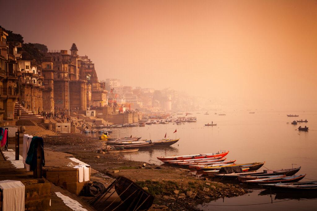Ghats (Banks) on the Ganges River