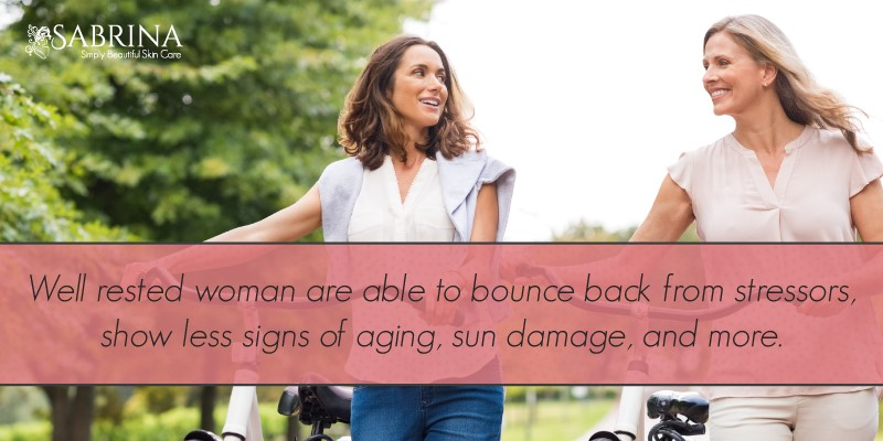 Rested women are able to bounce back from stress
