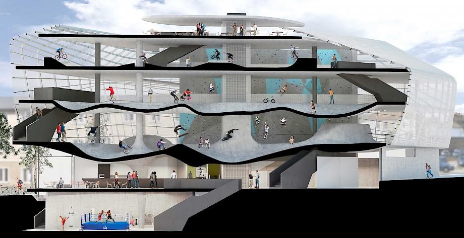 Multi-Story Skatepark