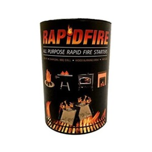 RAPIDFIRE - Fire Starter Indoor Outdoor Firelighters, Rapid Firestarter 100 Pack