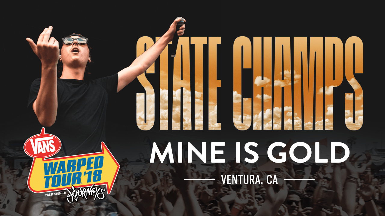 "State Champs – ""Mine Is Gold"" LIVE! Vans Warped Tour 2018"