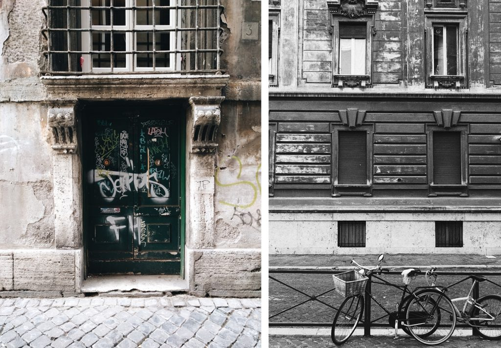 Graffiti and bicycles in Rome