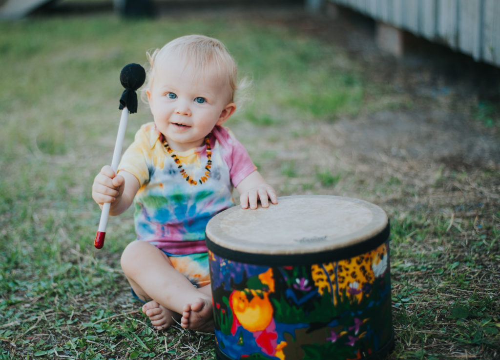 Boy with his drum at his mini session