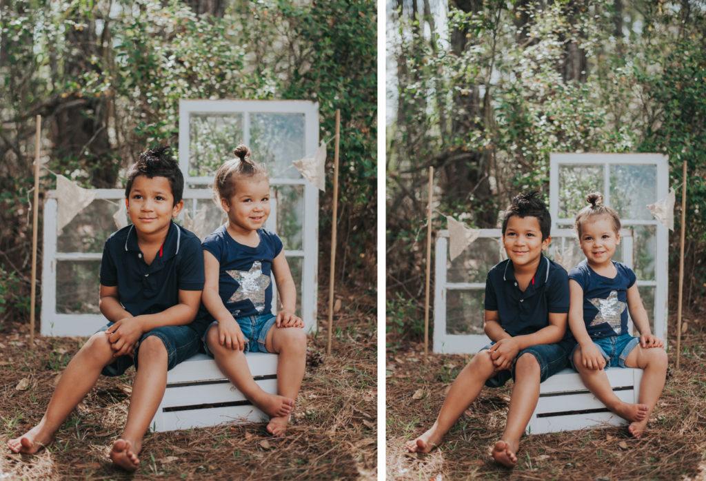 siblings easter photos