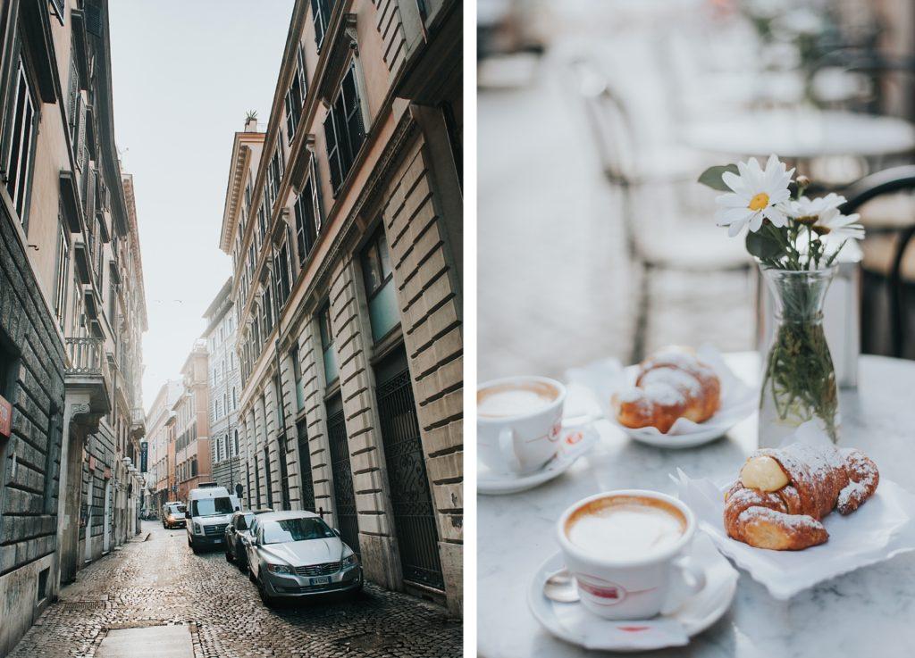 Italian street and breakfast
