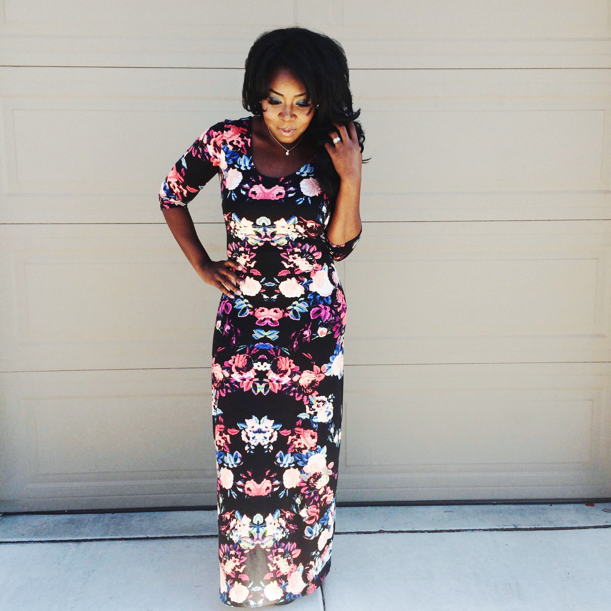 Valentine's Day or Date Night: Long floral