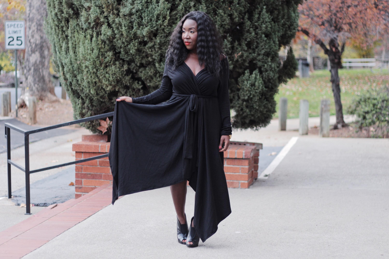 black-dress- ladies- fashion
