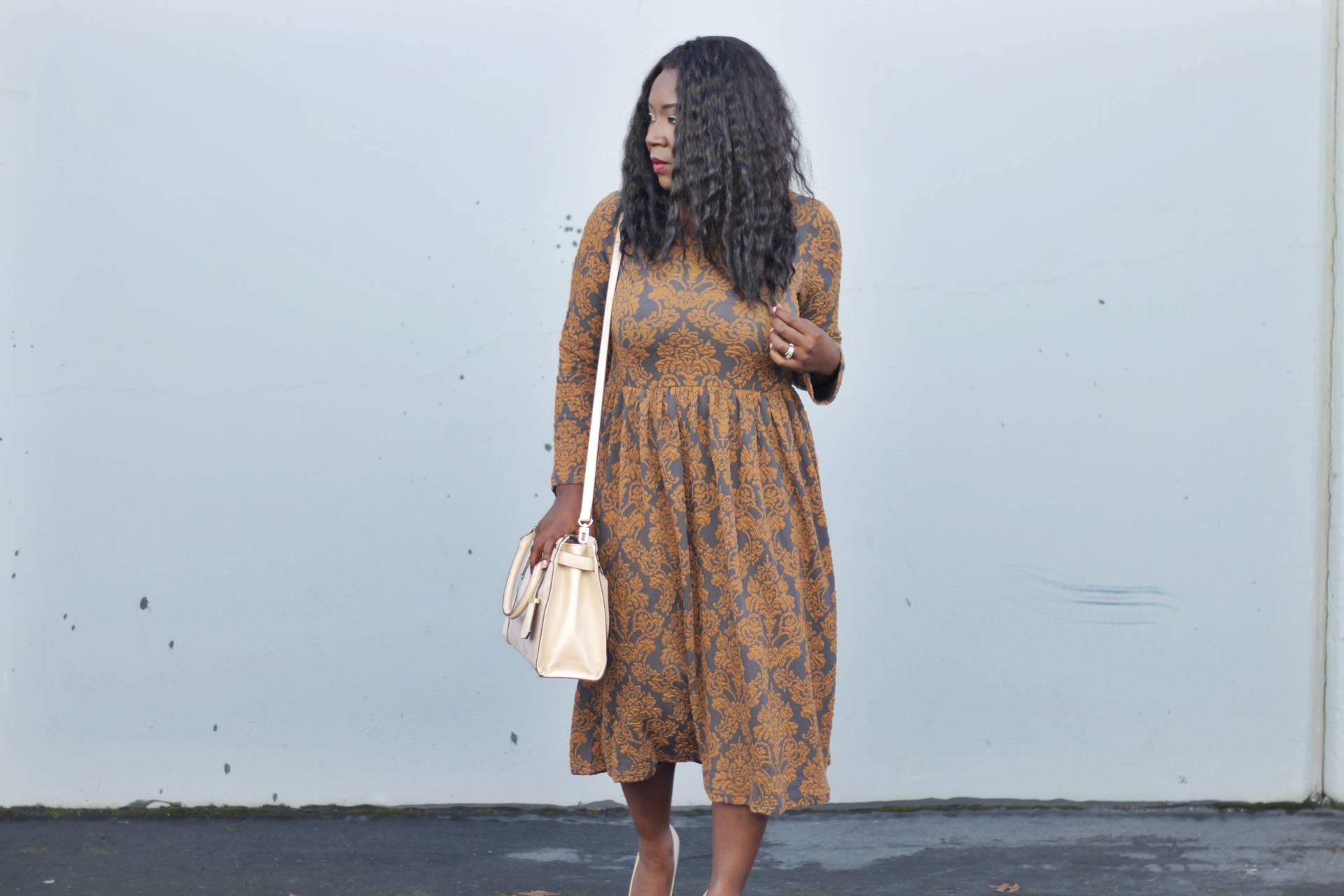 vintage-dresses Mustard